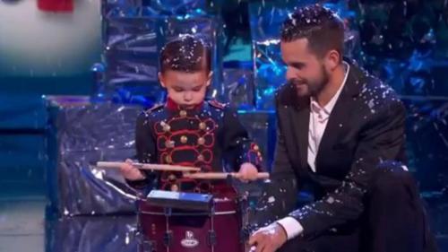 Hugo Molina y su tambor, en la final de «Got Talent» - MEDIASET